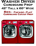 Washer Dryer Red Cardboard Cutout Standup Prop